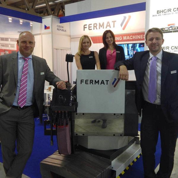 EMO 2015 - tým společnosti FERMAT Machine Tool na veletrhu EMO v Itálii