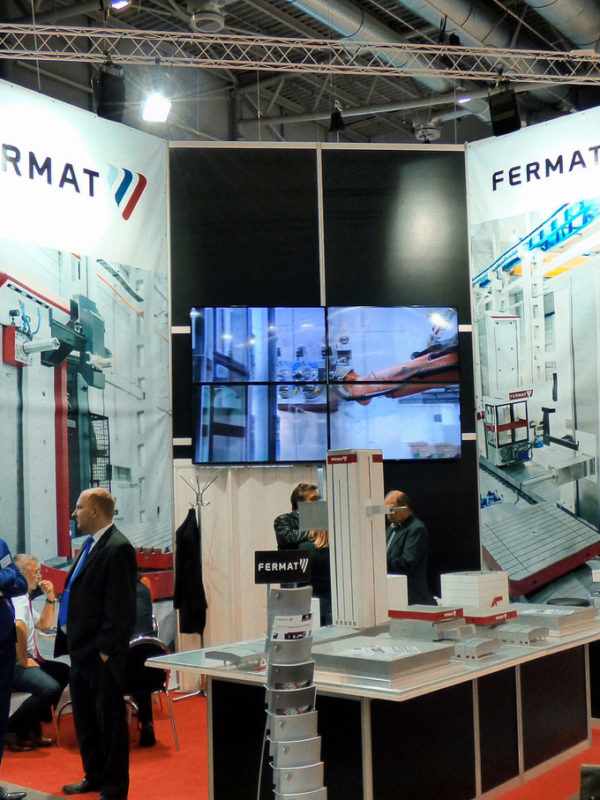 Stand of the comapny FERMAT Machine Tool in Hall P at the fair MSV | IMT 2016 in Brno (Czech Republic)