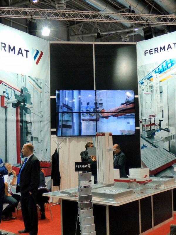 Der Ausstellerstand der firma FERMAT Machine Tool in Halle P MSV | IMT 2016 in Brno